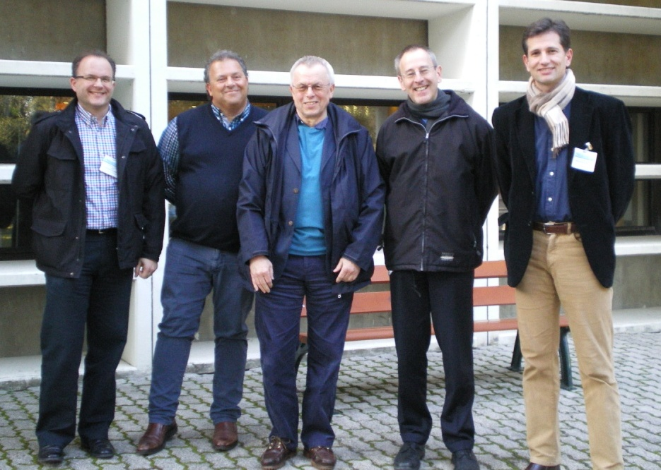Picture of the experts of STF 488. From left to right: Loïc Martínez, Bruno Von Niman, Mike Pluke, Martin Böcker and Nikolaos Floratos
